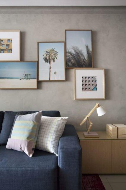decoração com quadros pequenos