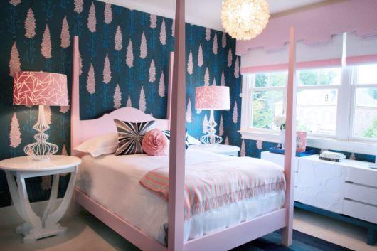 quarto de princesa azul e rosa