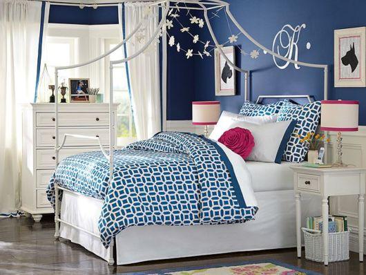 quarto de princesa azul