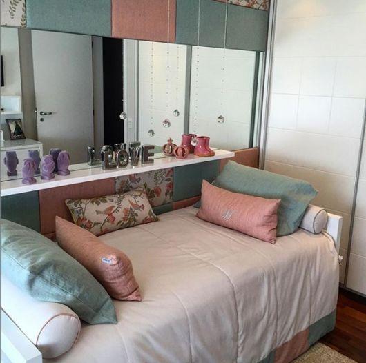 quarto feminino rosa e azul