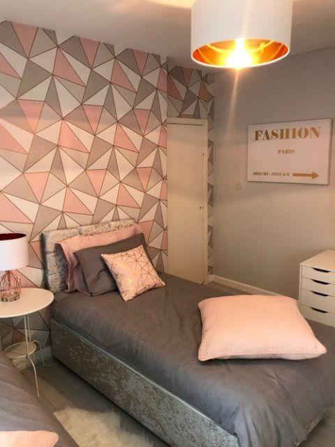 parede moderna quarto solteiro