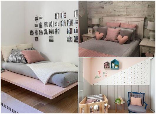 decoração em rosa e cinza