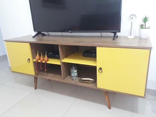 rack amarelo decoração