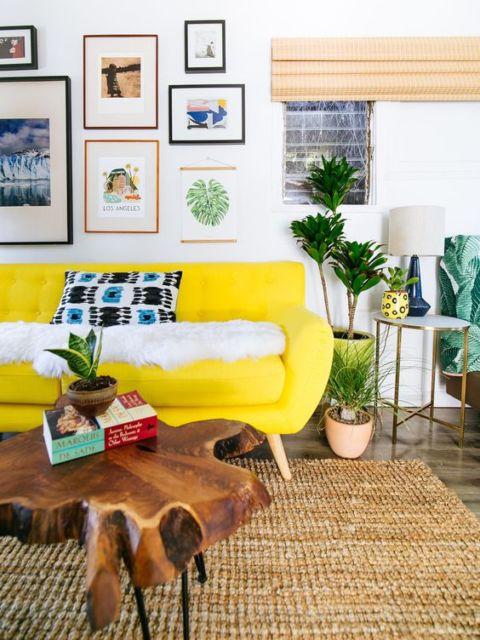 sofá retrô na decoração