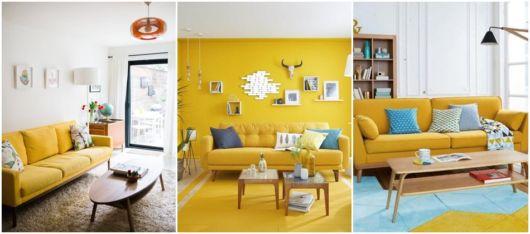 ideias decoração com sofá retrô