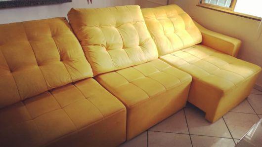 sofá retrátil 3 lugares