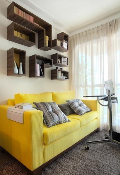 sala com sofá 2 lugares