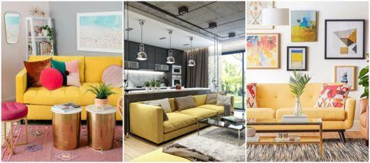 salas com sofá de 2 e 3 lugares