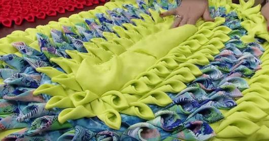 tapete de seda estampado