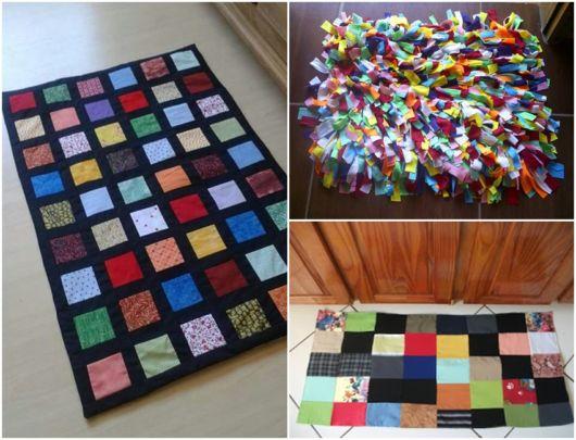 modelos de tapetes retangulares e quadrados
