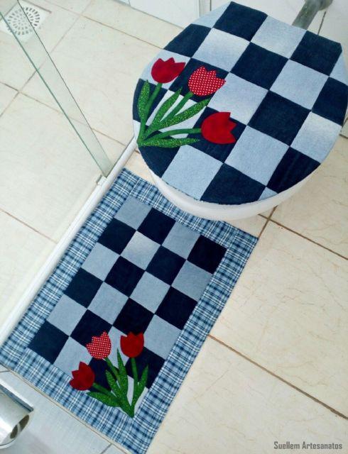 conjunto tapetes banheiro