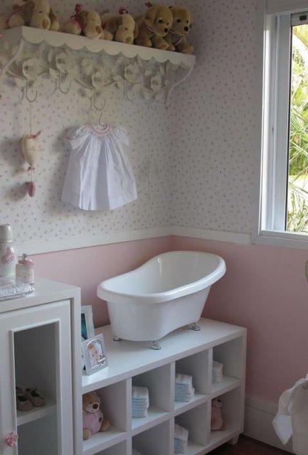 Banheiro com tons pastéis