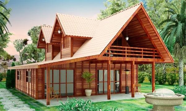 projeto sobrado de madeira