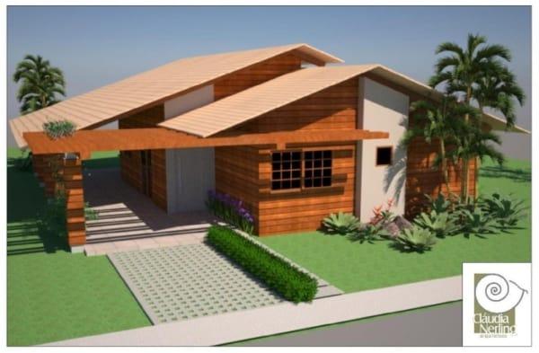 casa térrea de madeira
