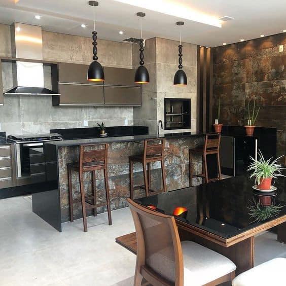 cozinha decora com metal