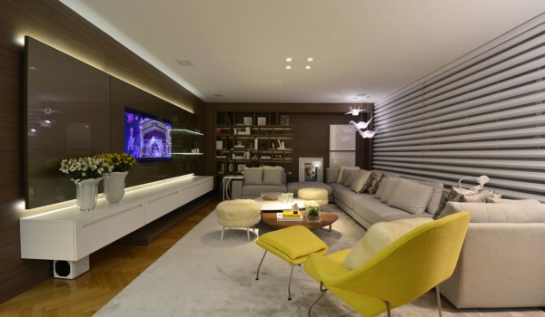 sala moderna planejada