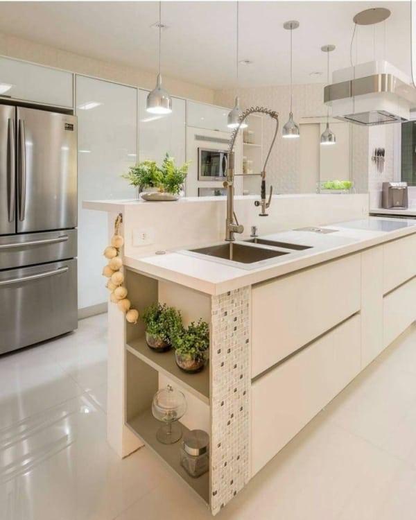 cozinha com ilha planejada