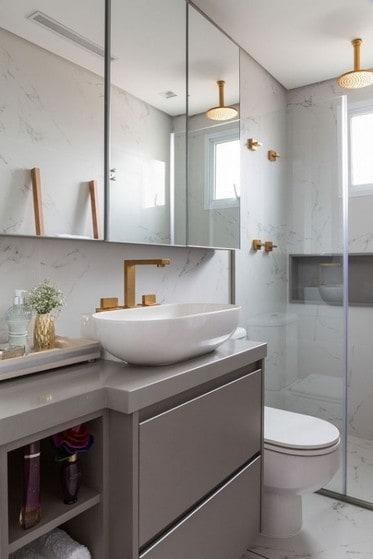 banheiro moderno planejado