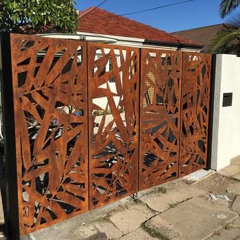 portão vazado de aço