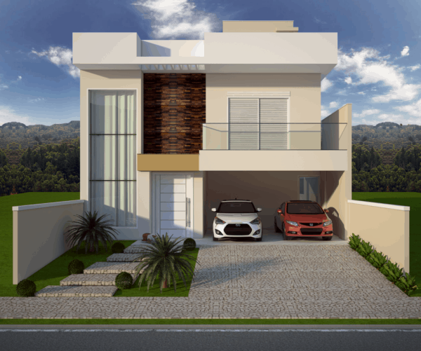 fachada moderna sobrado