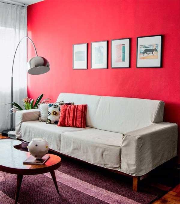 Sala de estar vermelha