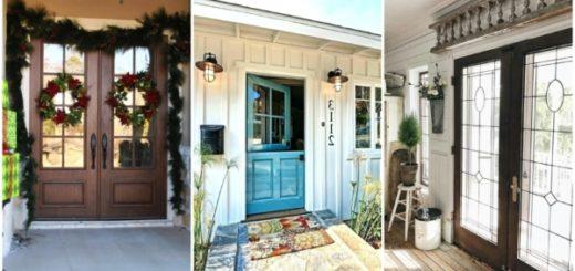 Diferentes modelos de portas francesas