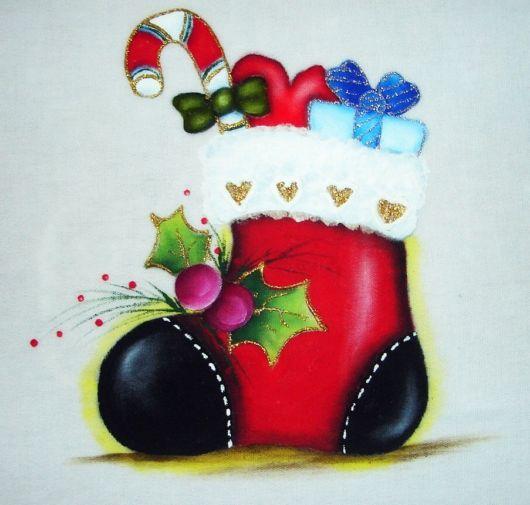 Pintura em tecido para iniciantes de Natal