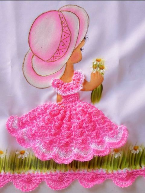 Pintura em tecido para iniciantes de bonecas