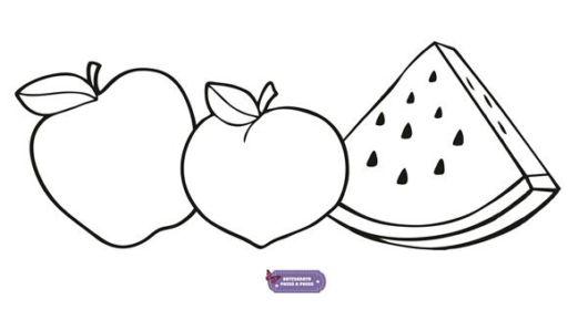 Frutas para pintura em tecido para iniciantes