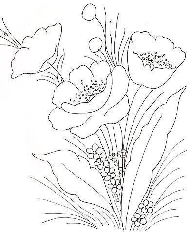 Flores para pintura em tecido para iniciantes