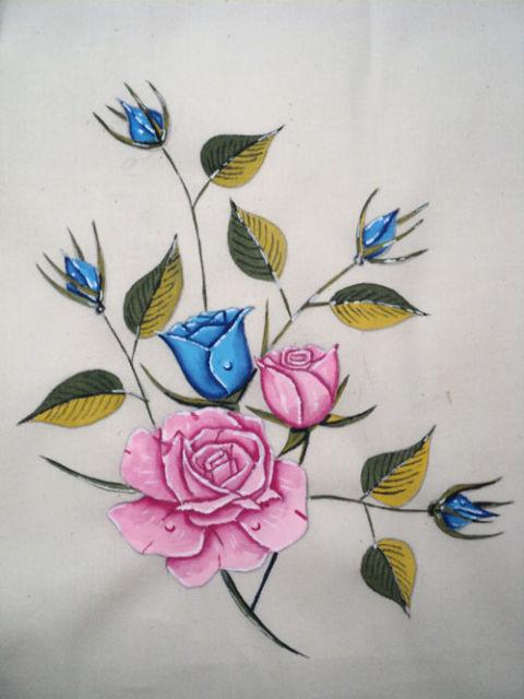 Rosa para pintura em tecido