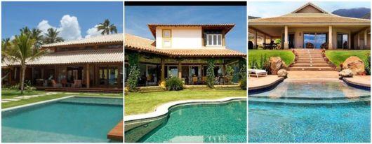 fotos de casas com piscina