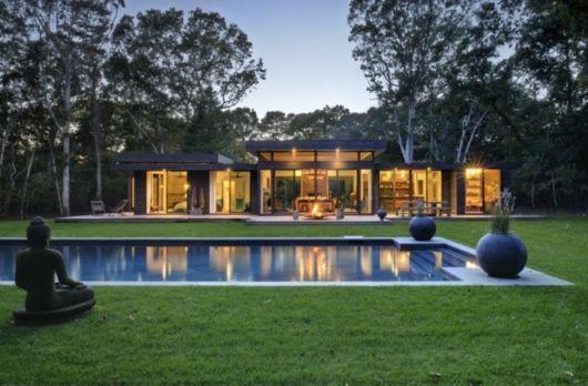casa moderna com piscina