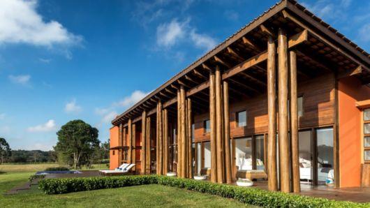 casa de madeira de luxo