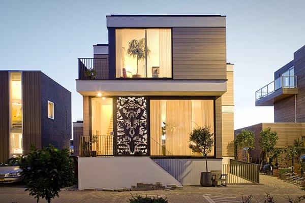 casa contemporânea moderna ompacta
