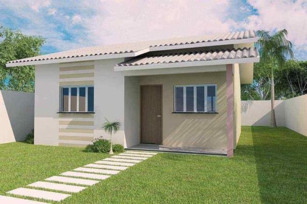 casa contemporânea pequena