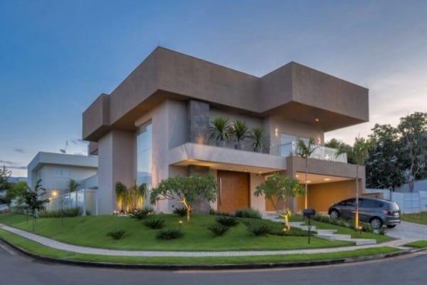 Design geométrico de casa contemporânea moderna