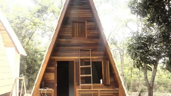 chalé de madeira
