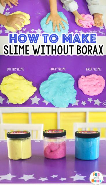 Como fazer slime bórax