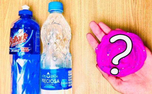 Slime com detergente