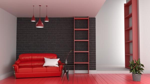cores que combinam com vermelho no quarto