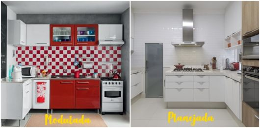 diferença entre cozinha modulada e planejada