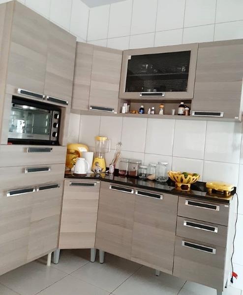 cozinha simples em L
