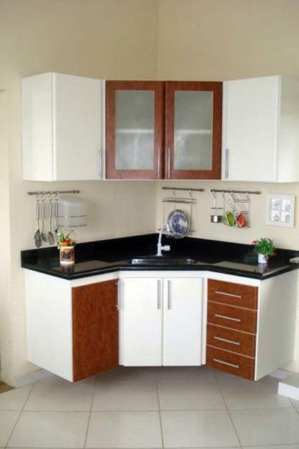 cozinha de canto compacta