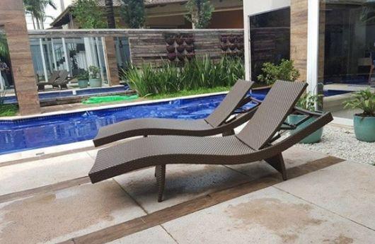 cadeira de fibra sintética reclinável