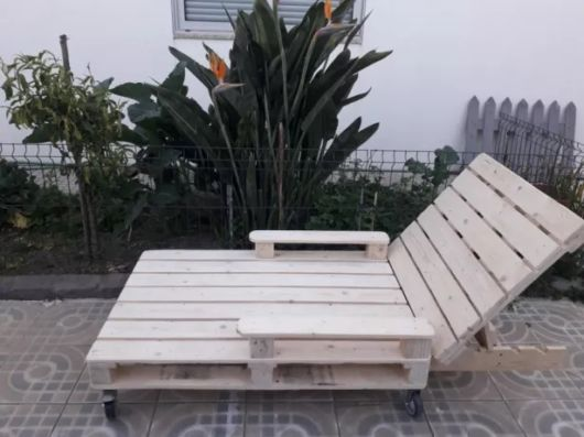 cadeira de palete branca