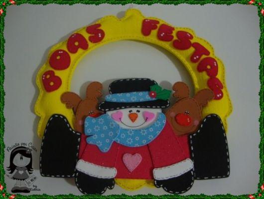 decoração de natal em EVA