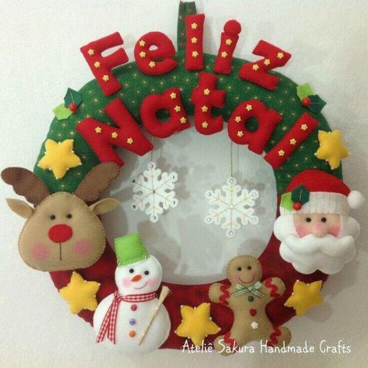 guirlanda decorada natal