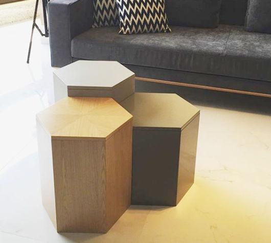 Mesa de centro pequena baú