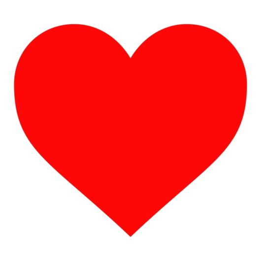 Molde de coração vermelho